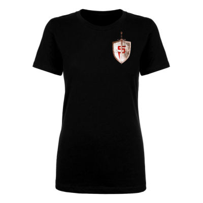 STEEL CITY SHIELD - PREMIUM WOMEN'S FITTED S/S TEE - BLACK Thumbnail