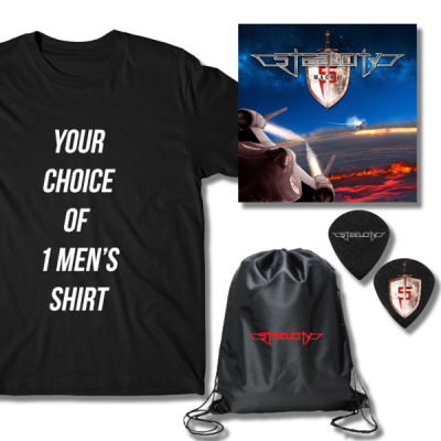 ***AVAILABLE NOW!!*** MEN'S MACH II BUNDLE PACK - CD, T-SHIRT, GUITAR PICKS & CINCH BACKPACK Thumbnail